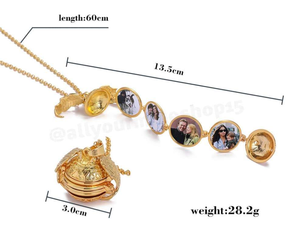 (Factory Outlet- 50% OFF today!)Expanding Photo Locket