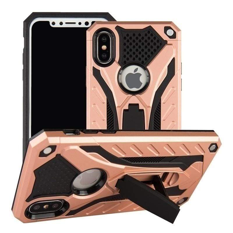 Shockproof Case For iPhone 11 / 11 Pro / 11 Pro Max Xr Max 7 8 Plus Shockproof Hybrid 2in1 Silicone PC Armor Drop Tested  Protective Kickstand Phone Back Cases for iPhone Xs Max Xr Xs 6 6S Plus Case Cover