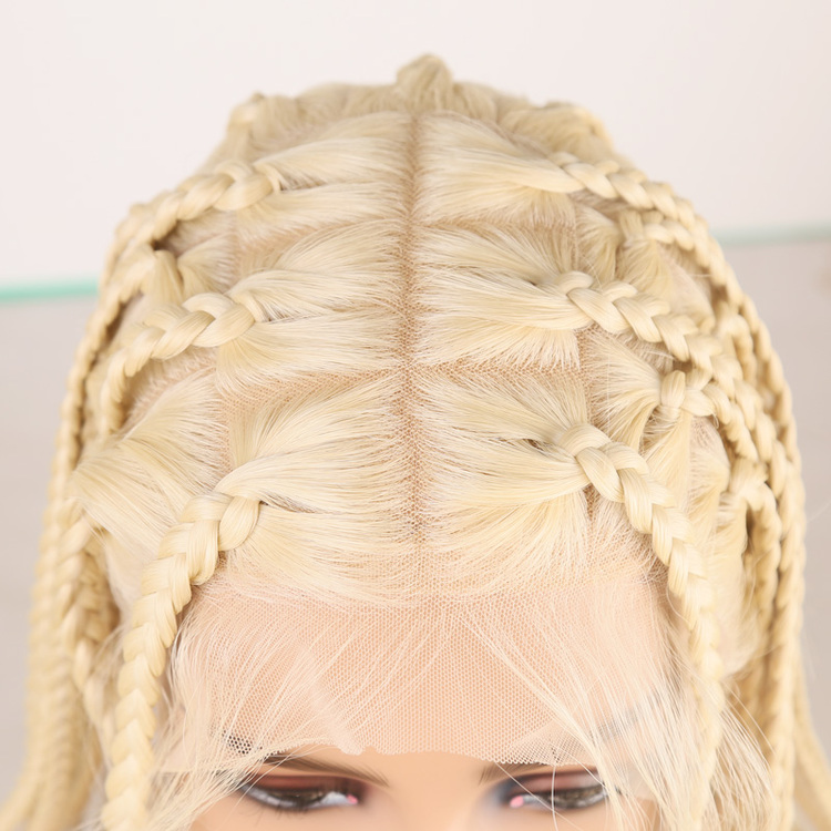New Arrival-100% Hand-Braided Full Lace Box Braid Wig