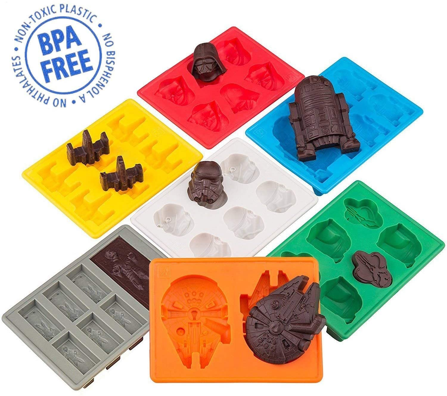 Star Wars Silicone Ice Trays / Chocolate Molds(BUY 2 FREE SHIPPING)