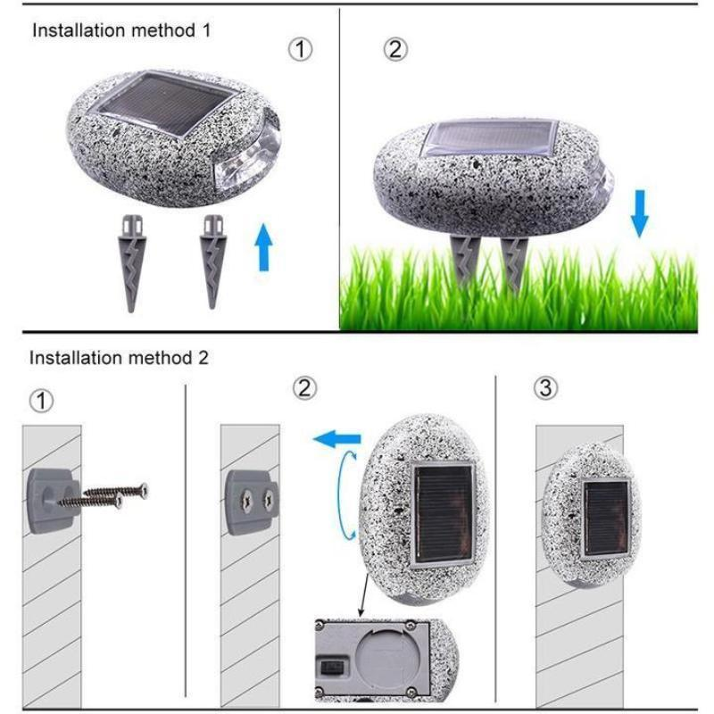 Waterproof Solar Powered Pebble Stone Light for Landscape/Pathway/Courtyard