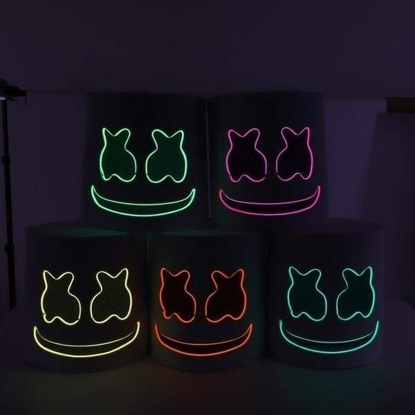 Need To Assemble-LED DJ Mask Cosplay Costume Accessory Helmet Party Bar Electric Syllable