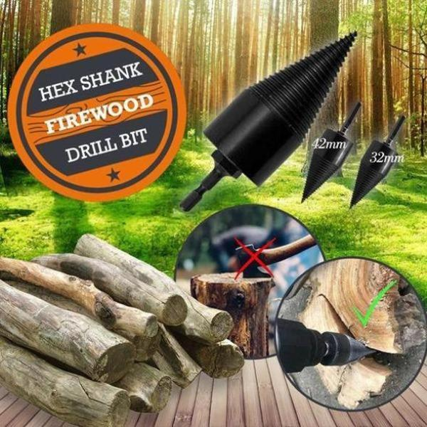 💥Only $22.99💥Firewood Drill Bit With A Round Shaft