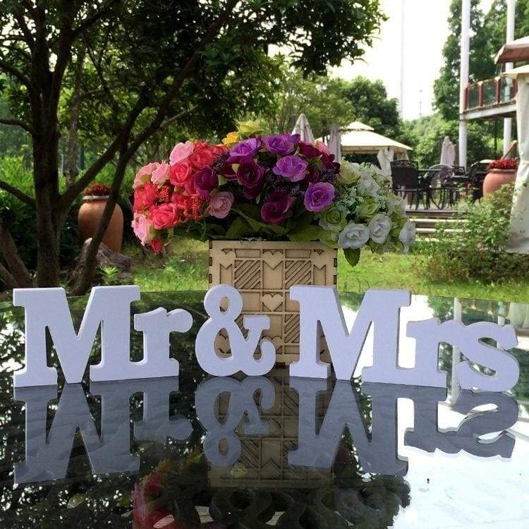 Wedding Decorations  3 Pcs/set Mr & Mrs Mariage Decor Birthday Party Decorations Valentine's Day White Letters Wedding Sign