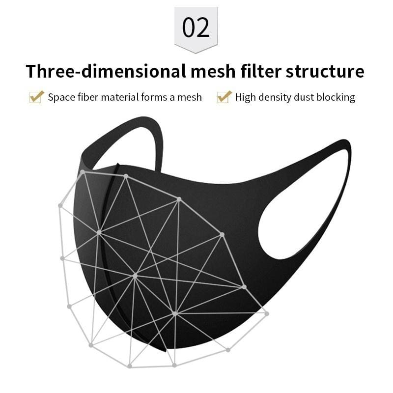 6Pcs / 3Pcs Personality Simple Breathing Mask 3D Ultra-thin Soft Mouth Mask Dustproof Anti-allergic PM2.5 Face Mask, Fashion Color Filter Mask for Adults and Kids