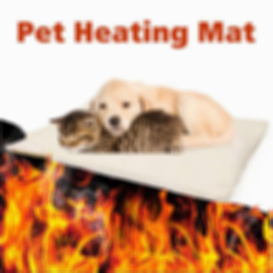 SKRTEN 90×64 cm Thermal Self-Warming Pet Bed for Cat/Dog/Puppy