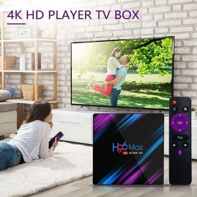 Intelligent Experience Smart TV Box 2.4G+5G WiFi/4K/3D 4K HDR Android 9.0, Quad-core Streaming Network Media Player 2/4GB RAM & 16/32/64GB Rom Optional