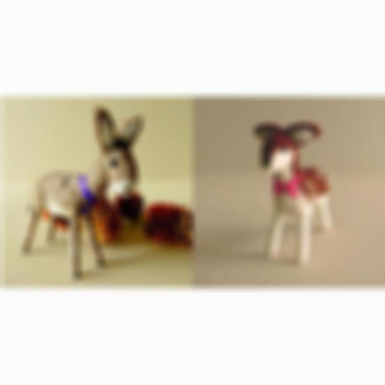 Donkey | Deer | Christmas ornament gift set | Donkey and deer figurines | Needle felt forest animals | Rustic Christmas | Holiday gift idea