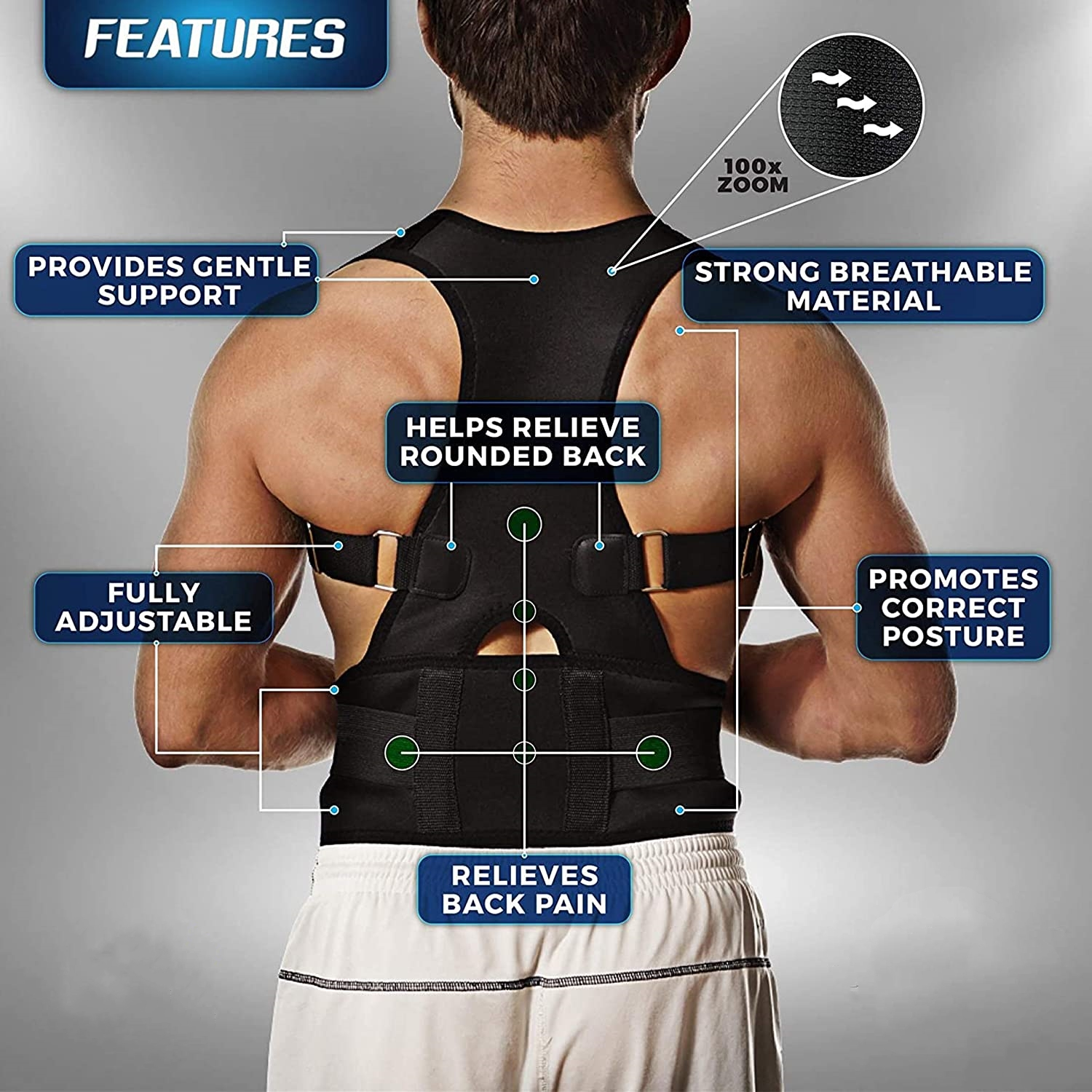 POSTURE CORRECTOR for women and men (buy one get one free)