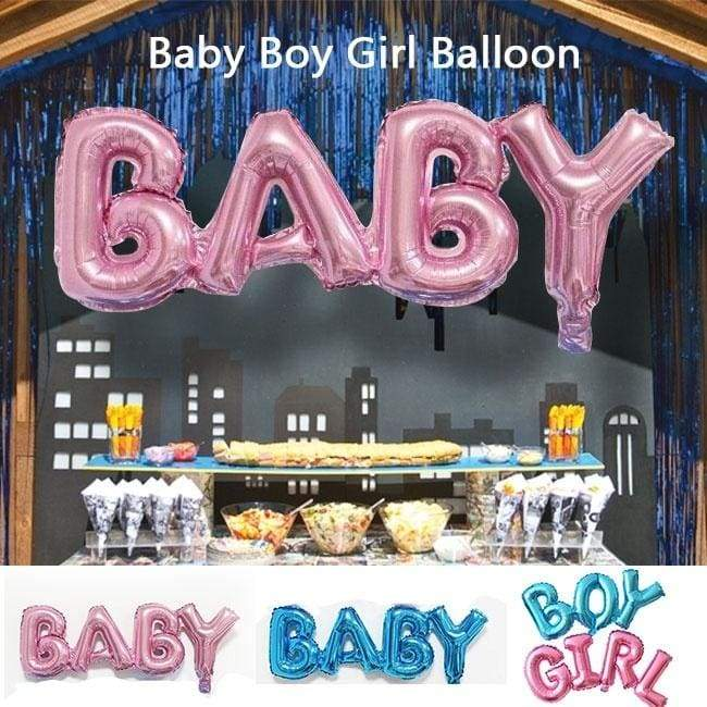 Baby Boy Girl Foil Balloon Kids Birthday Event Party Supplies Baby Shower Decorations Children Party Connection Letter Aluminum Balloons Inflatable Helium Balloon