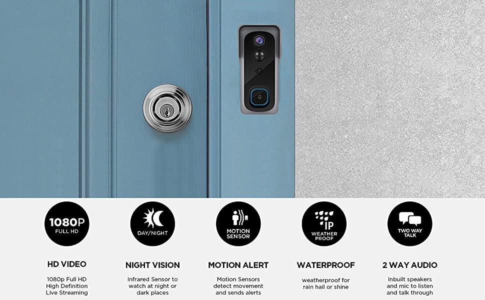 Video Doorbell Camera with Chime