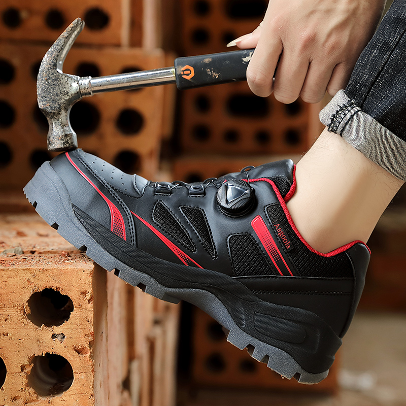 Safety shoes for men steel work safety boots anti-smashing piercing