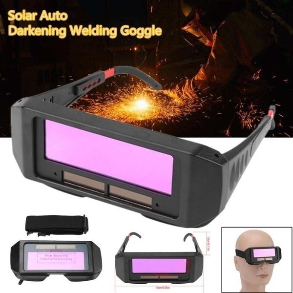 1 Pcs Upgraded Version Solar Auto Darkening Eyes Mask Welding TIG MIG Goggles Welder Eyes Glasses