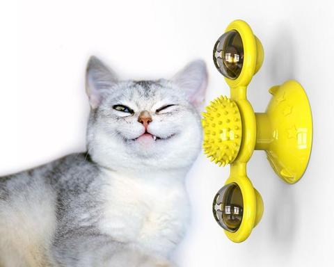 Windmill Cat Toy with Led Ball and Catnip Ball