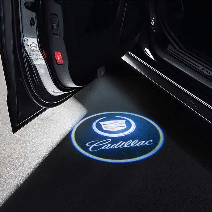 CarFitg Wireless Led Car Door Projector Puddle Logo Light - CADILLAC