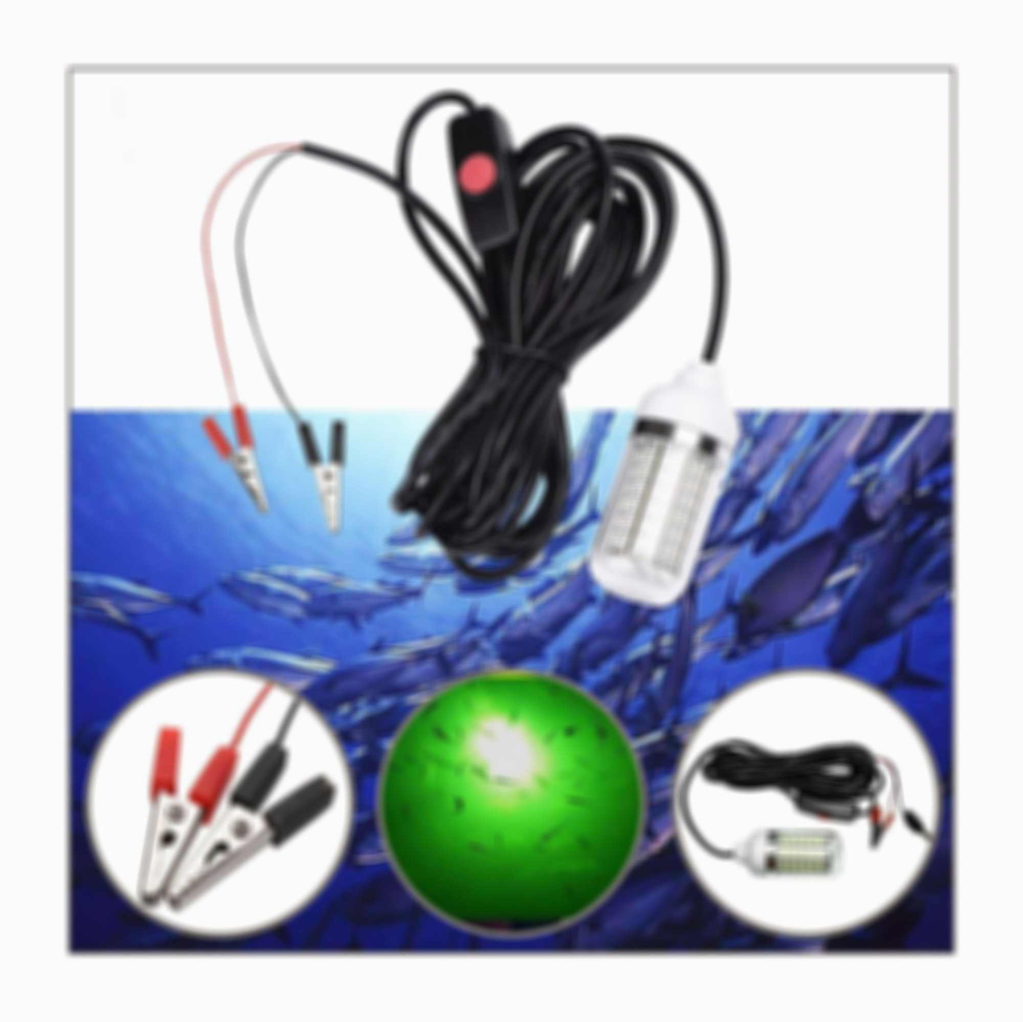 SKRTEN Underwater Green LED Fishing Fish Light