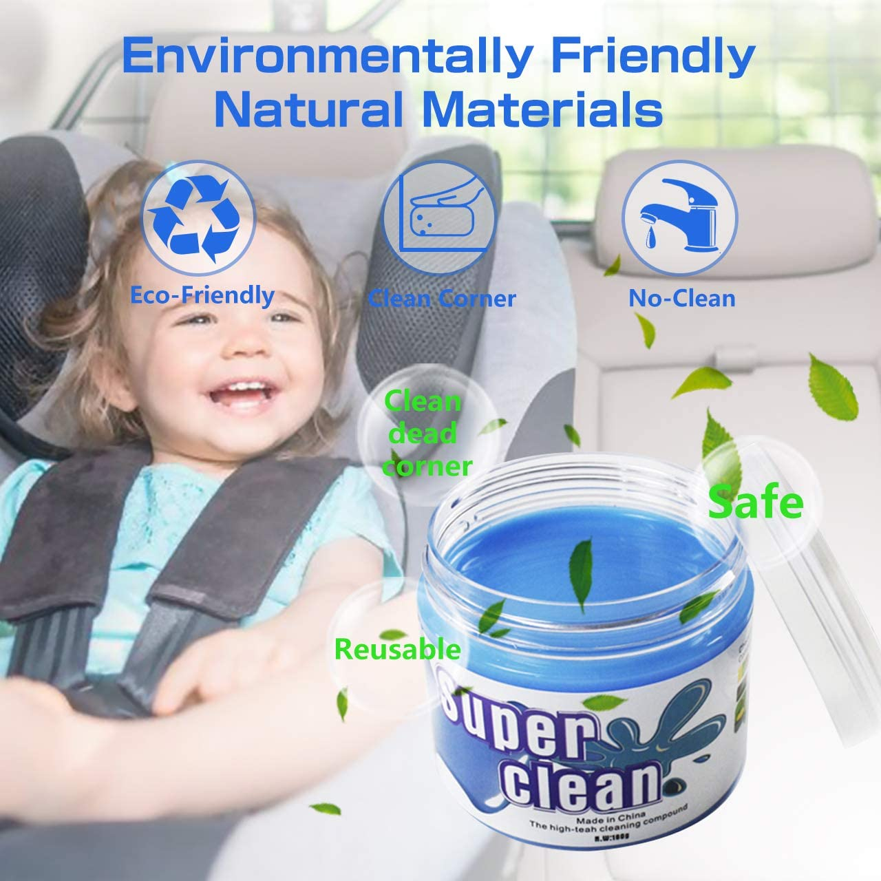 Car Interior Detailing Cleaner Universal Dust Cleaning Gel For PC Tablet Laptop Keyboards, Cameras, Air Vents