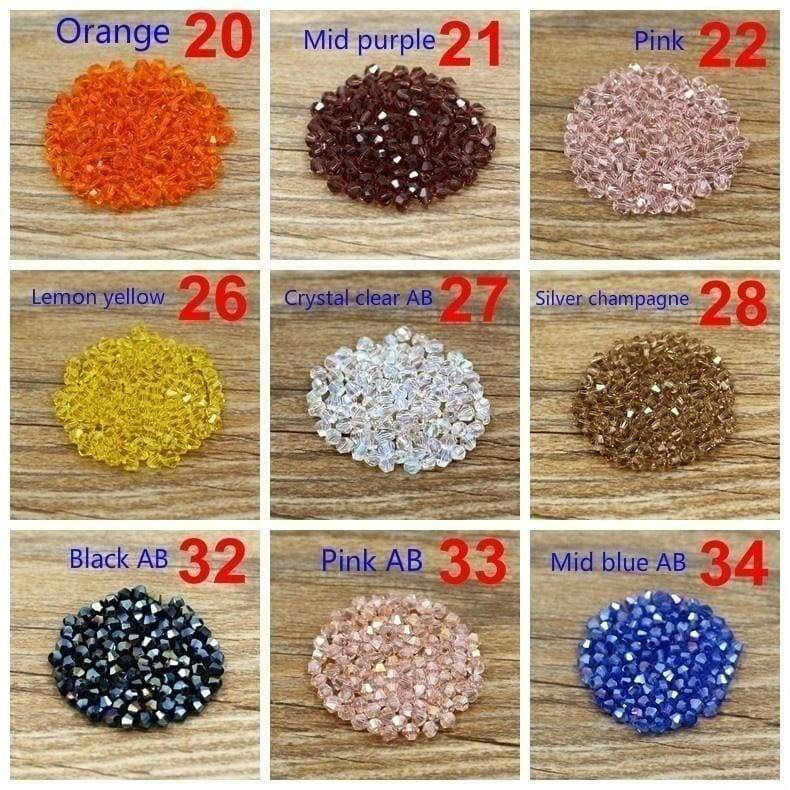 300 pieces 4mm Bicone Loose Crystal Beads for Jewelry making necklace links bracelet DIY 54 colors optional