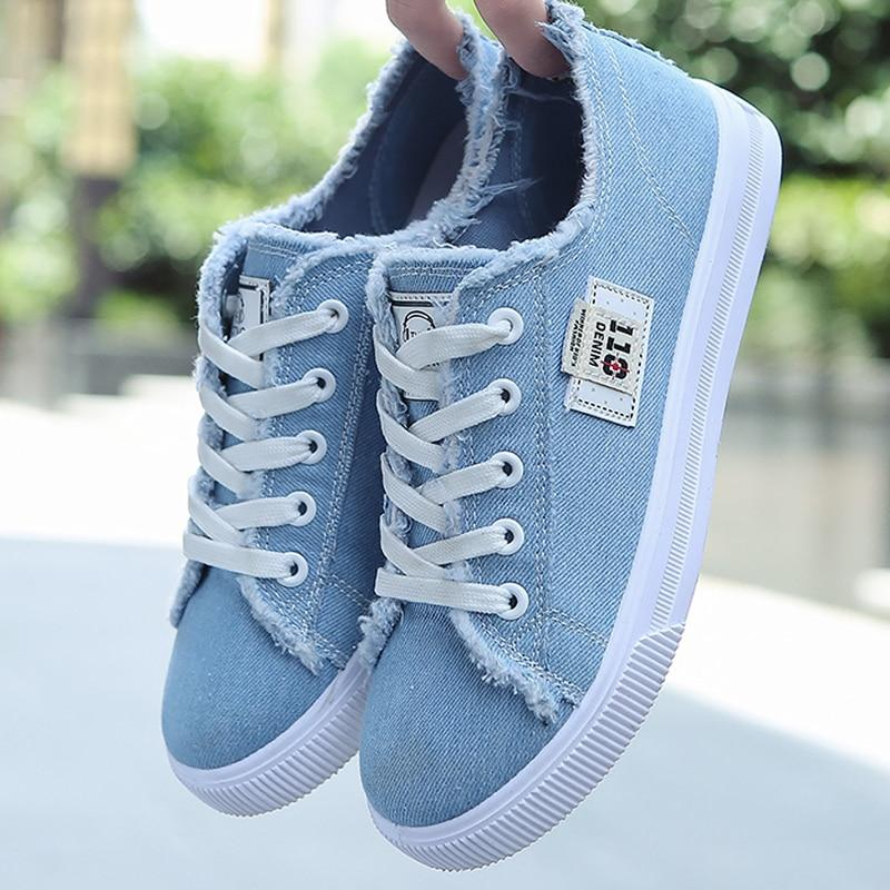 2020 Women Canvas Lace-up Sneakers