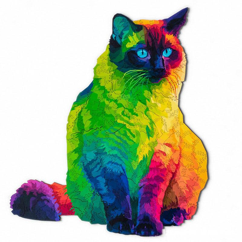 Cat-shaped Puzzle Rainbow Cat Toy Ornament