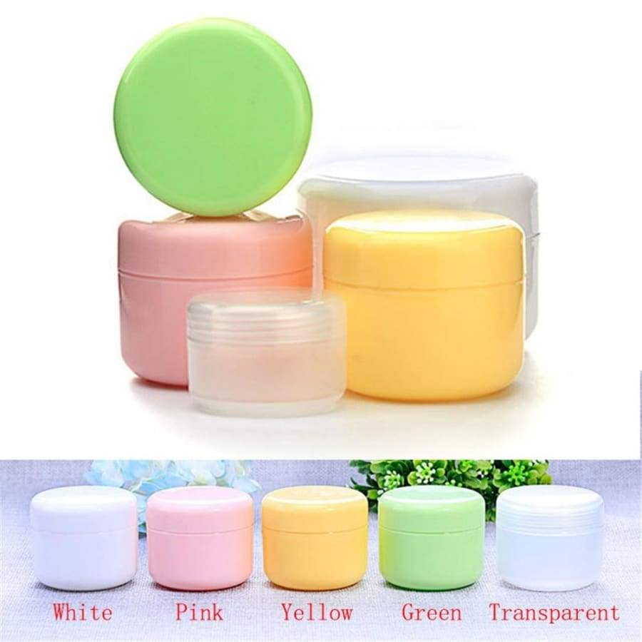 5Pcs/lot Portable Makeup Tool Inner Lid Cosmetic Holder Face Cream Pots Empty Container Refillable Bottles Lip Balm Jar 4 Sizes for Choose