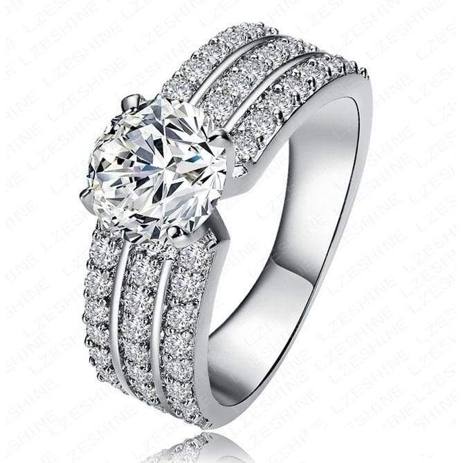 925 Sterling Silver Diamond Engagement Ring Fashion Jewelry Sets for Women