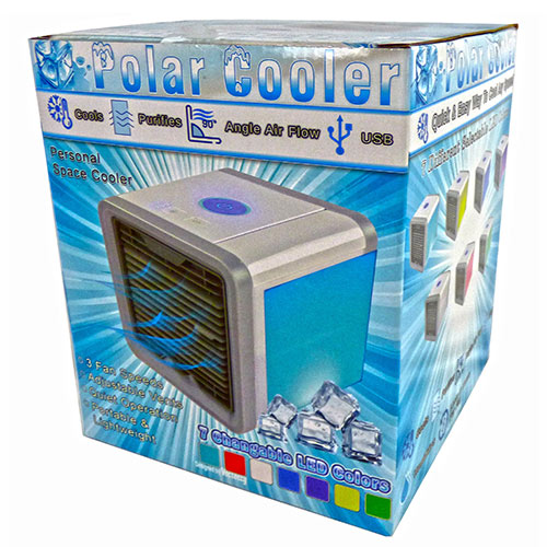 Polaire® 4 in1- Mini AC Space Cooler Air Purifier, Humidifier & Quiet Fan