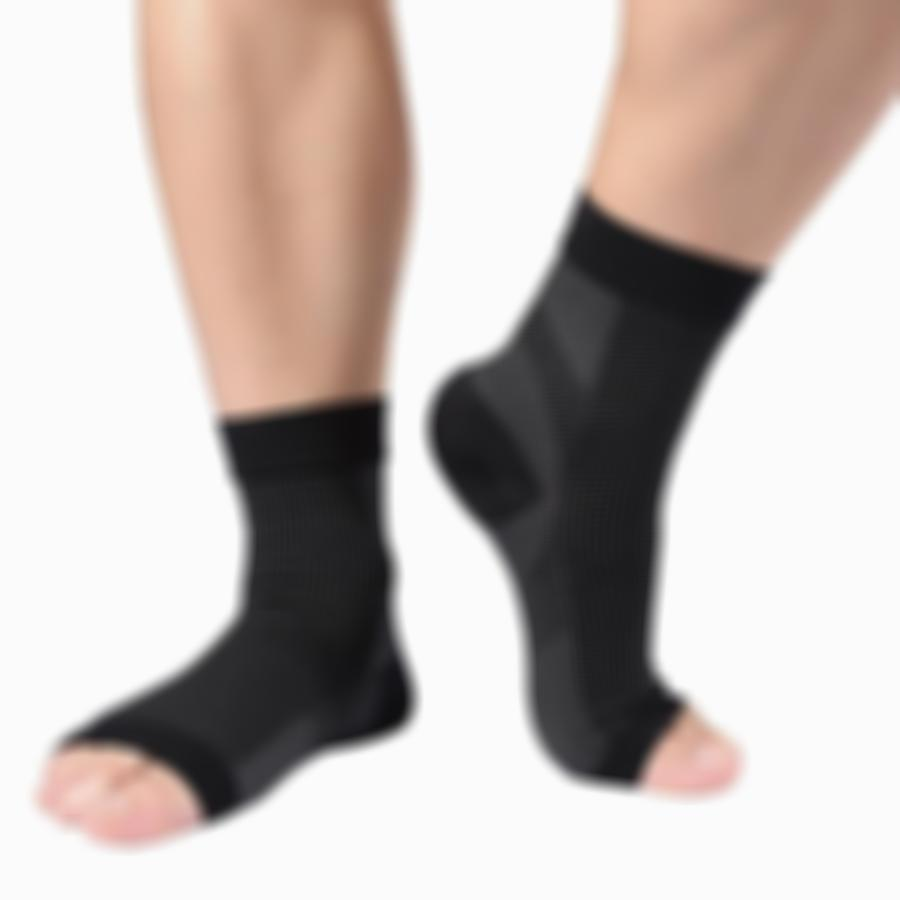 SKRTEN A Pair of Anti-fatigue Compression Foot Socks with Heel Arch Ankle Support