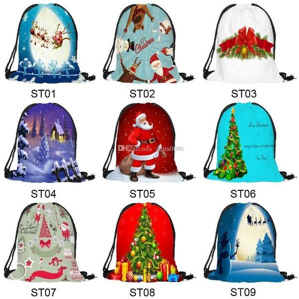 【Quarterly Discount --Welcoming Christmas】Drawstring Christmas Gift Bags