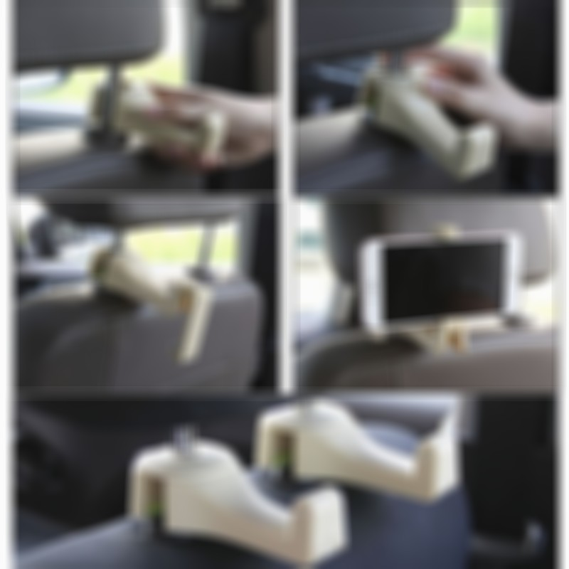 (BUY 3 GET 1 FREE)Car Seat Rear Hook with Mobile Phone Holder