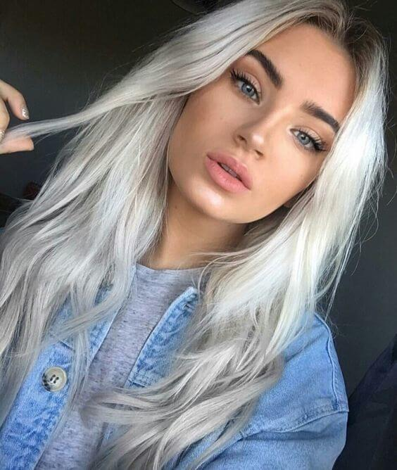 Gray Wigs Lace Frontal Wigs Gray Hair Without BleachBlack And Gray Ombre Wig