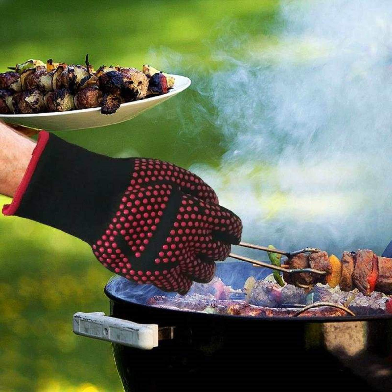 Silicon BBQ Fireproof Gloves(932℉ Extreme Heat Resistant) - Buy 3 Free Shipping