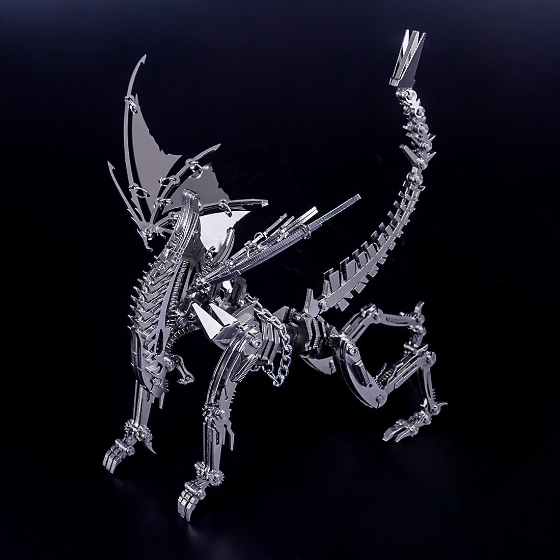 3D DIY Metal Puzzle Winged Beast Metal Model Kit-Difficulty level: ⭐⭐⭐⭐⭐⭐