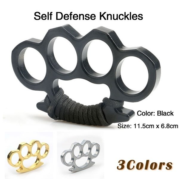 Self-Protection Tools For Women Titanium Steel Brass Knuckle Multifunctional
