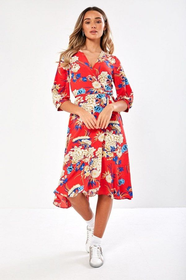 2020 Women Dress Casual Dress Print Gaun Dress Midi Casual Summer Dresses