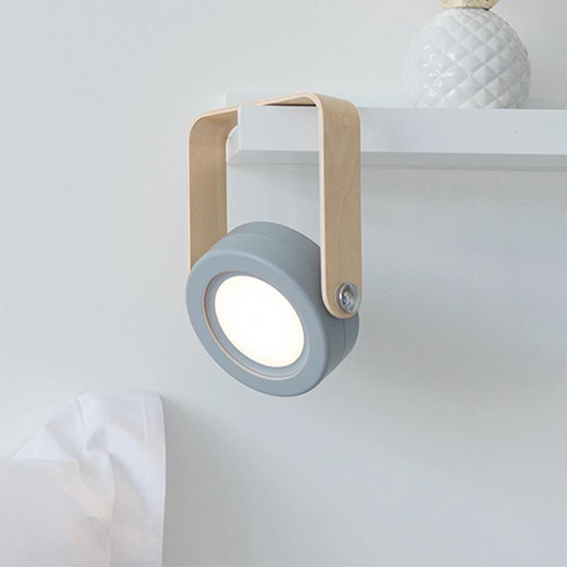 Portable Lantern Lamp With Wooden Handle-FREE SHIPPING