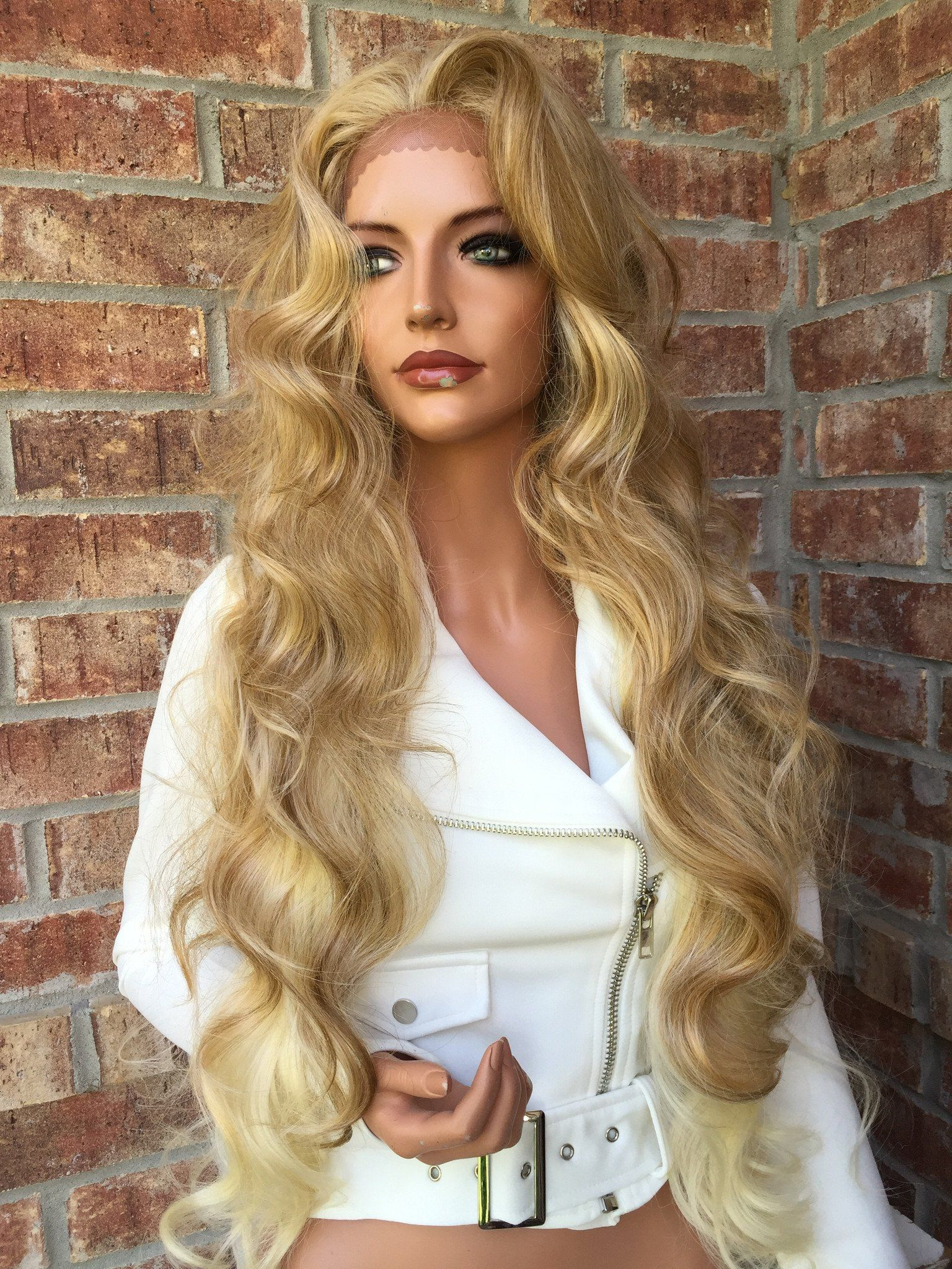 2020 Fashion Ombre Blonde Wigs 360 Lace Front Wig Glueless