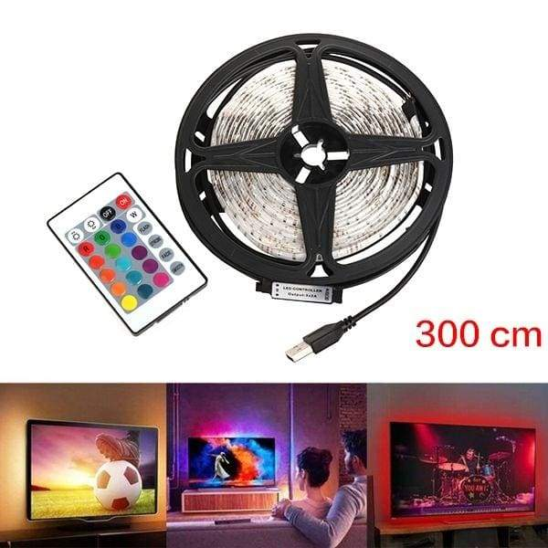50-500cm USB 5V LED Waterproof String Light Lamp Flexible RGB Changing Light Tape with Remote Control Ribbon