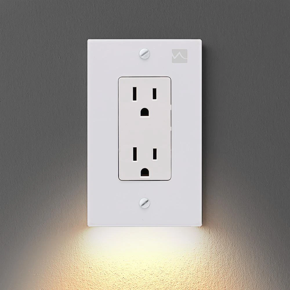 (Buy 6 save 14$)Outlet Wall Plate With LED Night Lights-No Batteries Or Wires