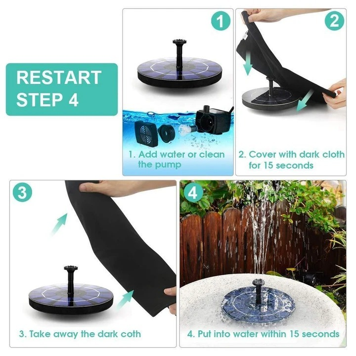 (Father's Day Promotions-50% OFF) Solar-Powered Bird Fountain Kit(Buy 2 get FREE SHIPPING)