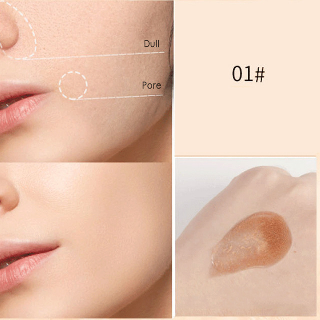 Bubble Water Liquid Foundation Concealing Moisturizing And Lasting Oil Control