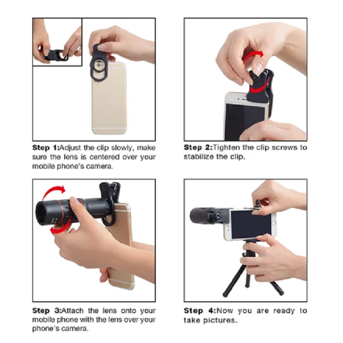 Mobile Phone Telephoto Telescope