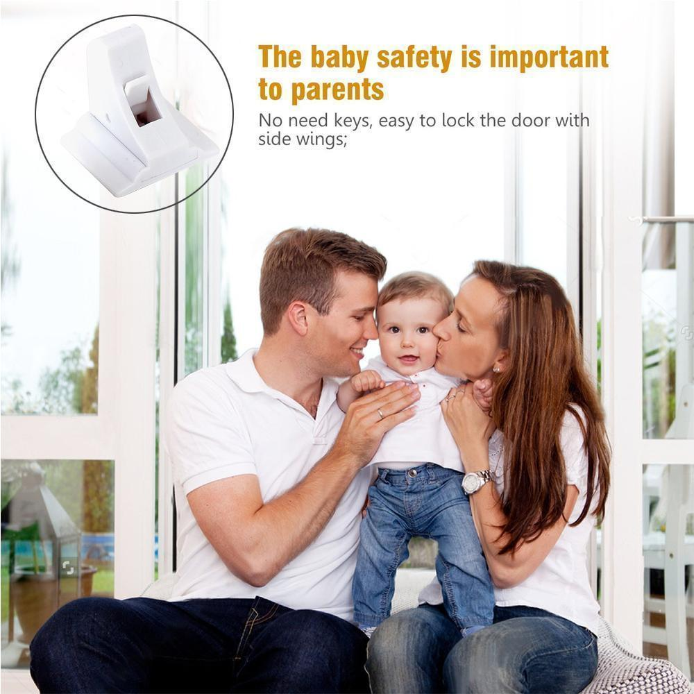 Magnetic Invisible No Drill Safety Lock (4 locks + 1 key)