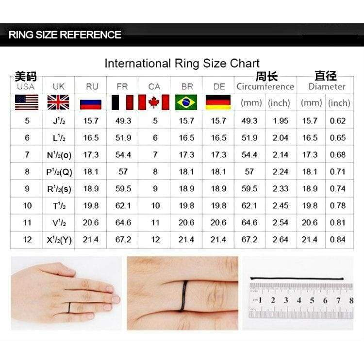 European and American fashion 8MM width and thickness 2.5mm black grooved seven-color high-grade fashion men's engagement ring