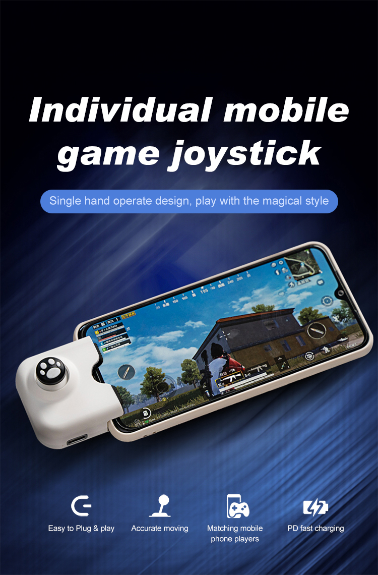 For PUBG Game Controller Phone Controller Gamepad  , with Charging Port for LOL CF Controller Joystick