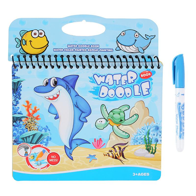 Buy two get one free! - Magic Water Books - Reusable Water-Reveal Water Coloring Books with Pens for Kids (Letter,Numbers)