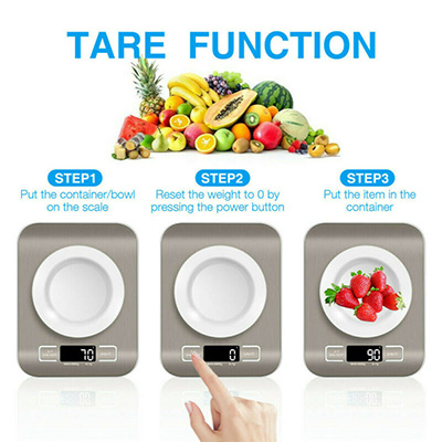Kitchen Scale Electronic Food Weighing Scale Digital Measuring