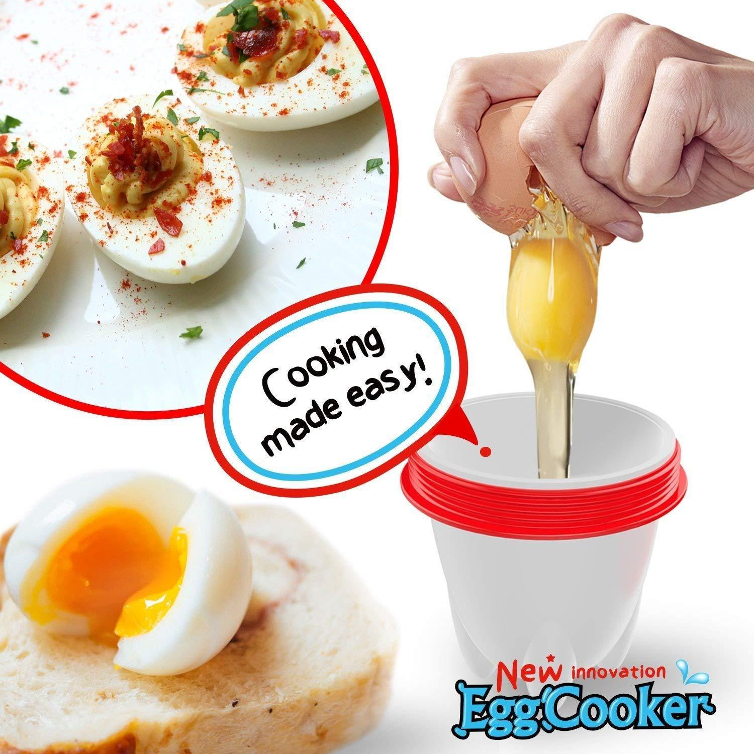 Silicone Egg Poacher/Cooker With Separator