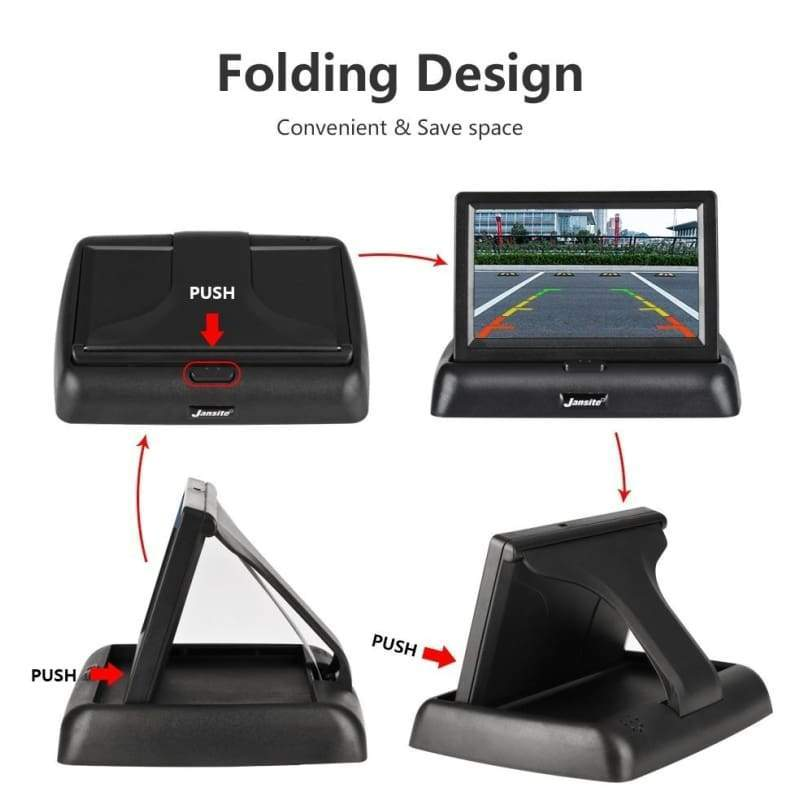 4.3 inch Foldable Car Monitor TFT LCD Display Cameras Reverse Camera Parking System for Car Rearview Monitors NTSC PAL