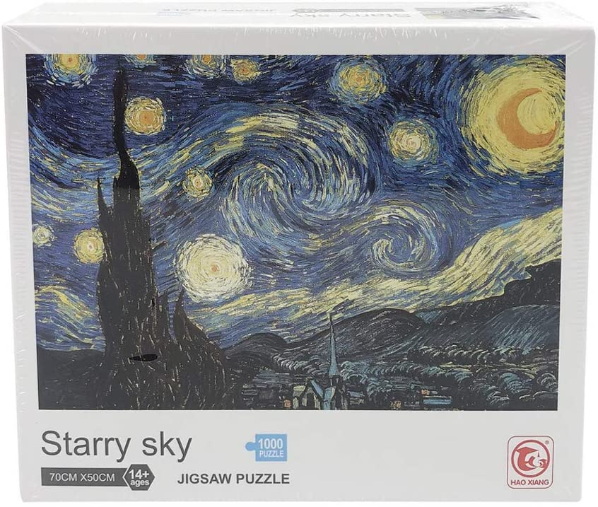 1000 Piece Puzzles for Adults, Starry Night Jigsaw Puzzle Difficult and Challenge (Starry Night Puzzle)